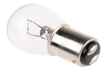 BA15d Base Clear Incandescent Car Lamps 12 V, 21 W