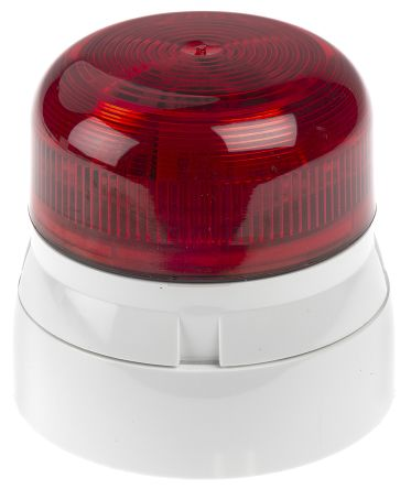 Flaşör, LED, Kırmızı, Sabit, Yüzeye Monte, 230 V ac