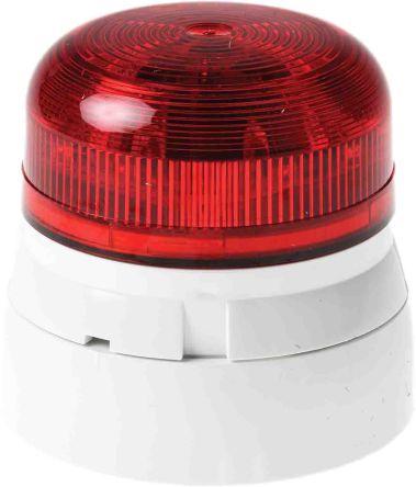 Flaşör, LED, Kırmızı, Yanıp Sönen, Sabit, Yüzeye Monte, 11 → 35 V dc