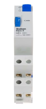 Staircase Timer Light Switch, 230 V ac, 1 → 7min Setting Time
