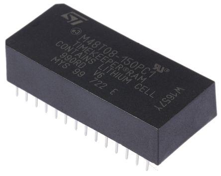 STMicroelectronics M48T08-150PC1 NVRAM, 150ns, 5V 28-Pin PCDIP
