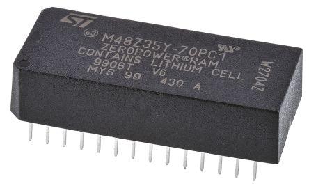 STMicroelectronics M48Z35Y-70PC1 NVRAM, 256kbit, 70ns, 5V 28-Pin PCDIP