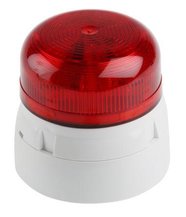 Flaşör, LED, Kırmızı, Yanıp Sönen, Yüzeye Monte, 230 V ac