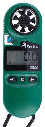 Kestrel KESTREL 2000 Rotary Vane 40m/s Max Air Velocity Air Velocity, Temperature, Wind Chill Anemometer