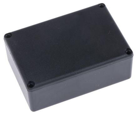 Black ABS Potting Box With Lid, 64 x 44 x 25mm product photo