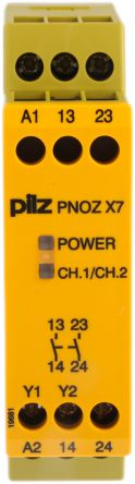 774059 pilz 24 v ac dc safety relay single channel with 2 safety PNOZ X3 technical data sheets operating instructions for pnoz x7