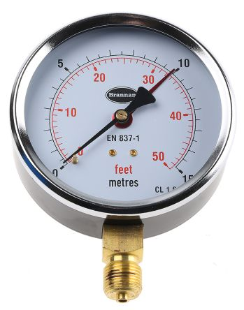34/602/0 Analogue Positive Pressure Gauge Bottom Entry, Connection Size BSP 3/8 product photo
