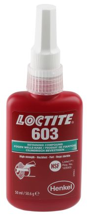 135280 Loctite Loctite Green High Strength Retaining Compound Urethane Methacrylate Liquid Bottle 50 Ml 55 150 C Loctite 330 3964 Rs Components