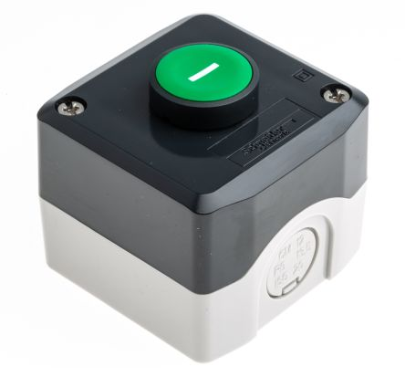 Schneider Electric XALD102 Enclosed Push Button - NO Polycarbonate Green I