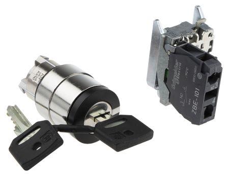 Schneider Electric 2 Position Key Switch - (1NO)