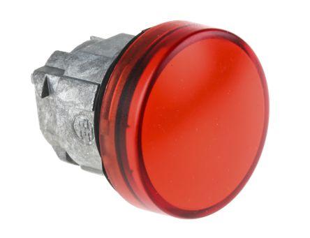 Schneider Electric Harmony XB4 Series, Red Pilot Light Head, 22mm Cutout