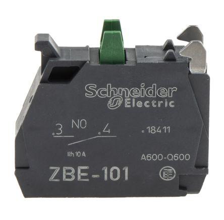 Bloque de contactos Schneider Electric ZBE101, 1 NA, terminal Roscado