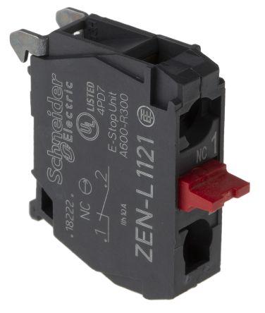 Bloque de contactos Schneider Electric ZENL1121, 1 NC, terminal Roscado