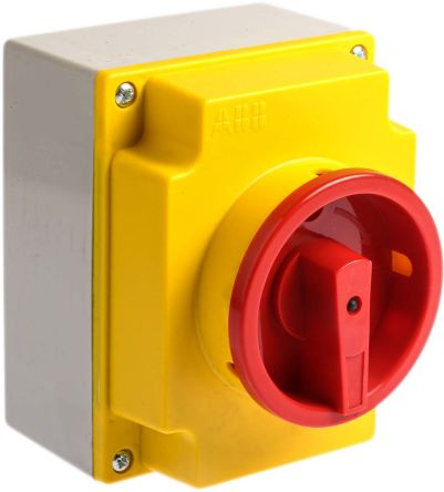 3 Pole Non Fused Isolator Switch, 25 A, 9 kW, IP65