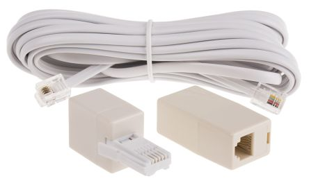 White 5m Telephone Extension Cable Male BT product photo
