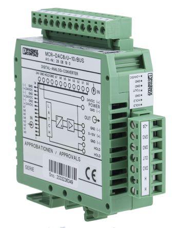 Phoenix Contact MCR-DAC 8-U-10-BUS, Signal Converter, 8 bit Input, 5 mA, 0  → 10 V Output