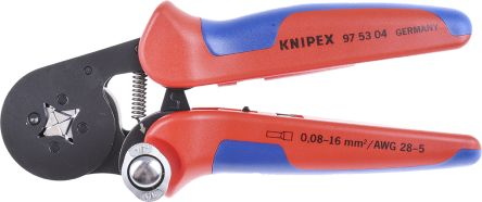97 53 04 knipex crimping tool bootlace ferrule minimum 28awg maximum 7awg knipex. Black Bedroom Furniture Sets. Home Design Ideas