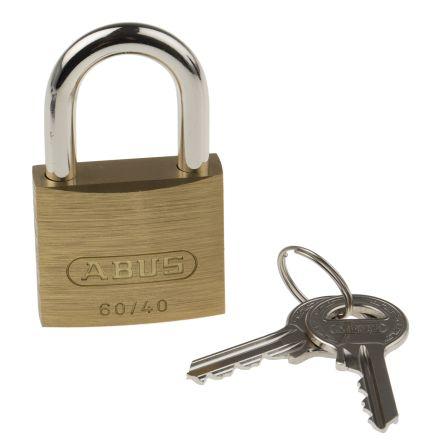 3 Keys Padlock steel-brass coated 40mm Marksman