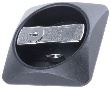 Bloqueo Euro-Locks a Lowe & Fletcher group Company, Chapado en cromo, Metal, Plástico, Negro, Tirador Embutido, 87mm