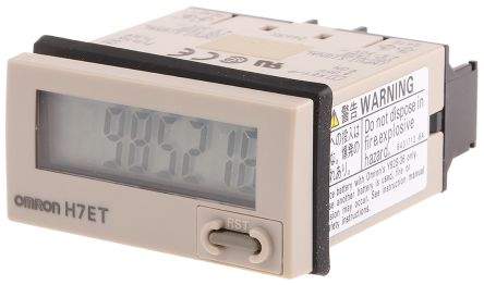 Omron Hours Run Meter, 7 digits , LCD, Screw Connection, 4 5 → 30 V dc