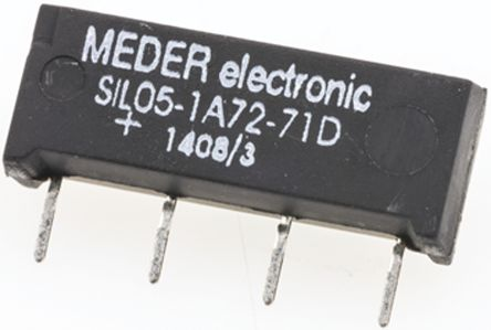 SPNO SIL reed relay,1A 5Vdc coil