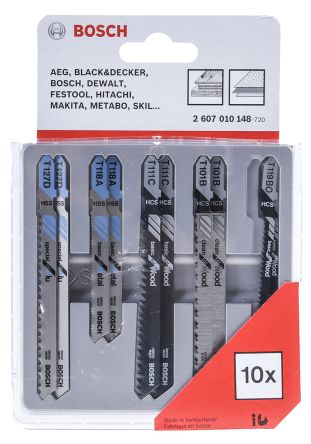 Bosch T-Shank Jigsaw Blade Set For Wood