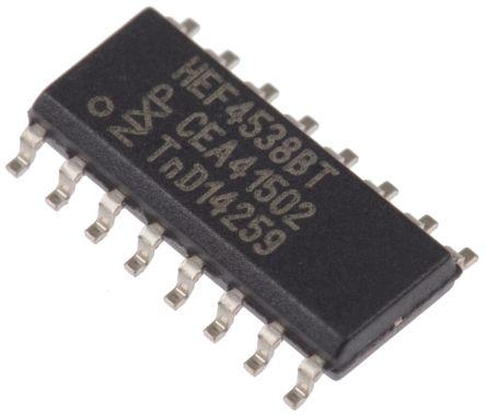 Nexperia HEF4538BT,652, Dual Monostable Multivibrator, 16-Pin SOIC