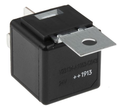 TE ConnectivityF4 SPDT Automotive Relay Plug In, 24V dc Coil, 40A