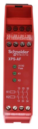 Schneider Electric XPS AF 24 V ac/dc Safety Relay Single or Dual Channel  With 3 Safety Contacts