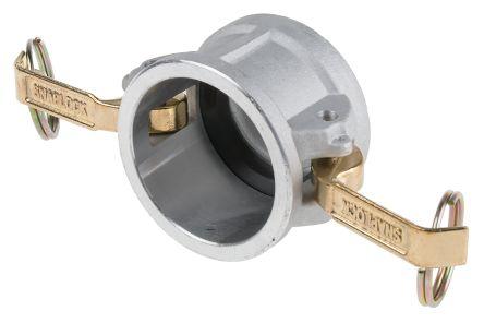 Aluminium coupling dust cap,1 1/2in