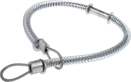 RS PRO Galvanised Steel Hose Whipcheck, Compatible Hose Sizes 1/2 →  1-1/4in, Breaking Strength 580kg
