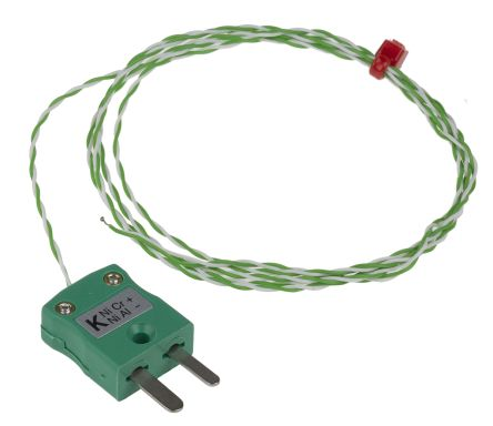 RS Pro Type K Thermocouple 1/0.2mm diameter, -75°C → +250°C