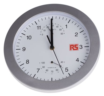 Silver Wall Clock, 250mm product photo