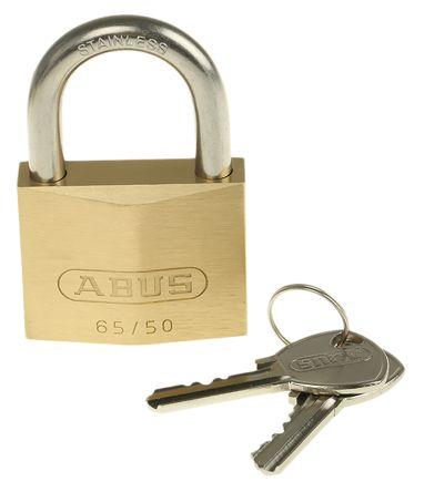 ABUS Mechanical 65IB//50mm Brass Padlock Stainless Steel Shackle Keyed Alike 4...