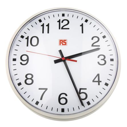 White Wall Clock, 320mm product photo
