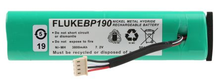 Fluke Oscilloscope Battery Pack BP190, For Use With 190 Series, 190C Series, 430 Series, Battery Chemistry NiMH