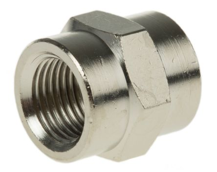 Legris LF3000 20 bar Brass Pneumatic Straight Threaded Adapter, G 1/8 Female To G 1/8 Female