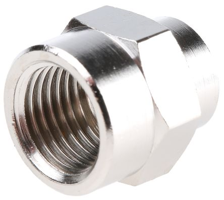 Legris LF3000 60 bar Brass Pneumatic Straight Threaded Adapter, G 1/8 Female To G 1/4 Female