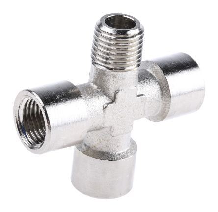 Legris Pneumatic Cross Threaded Adapter R 1/4 Male, G 1/4 Female Male