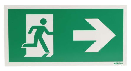 plastic fire exit right non illuminated emergency exit sign 300 x