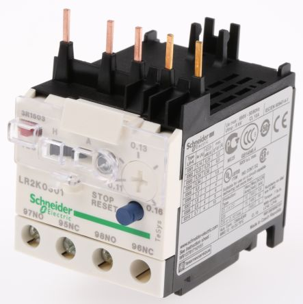 Schneider Electric Thermal Overload Relay NO/NC, 0.11 → 0.16 A, 160 mA, 100 W, 250 V dc, 690 V ac