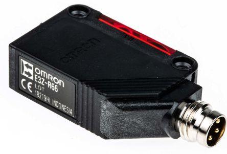 Retro-Reflective Photoelectric Sensor 100 mm -> 4 m Detection Range NPN IP69K Block Style E3ZR66OMS product photo