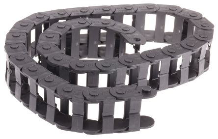 E14; e-chain Black Igumid NB Chain Trunking; W50mmxD25mm; L1m; 48mm MinBend Radius