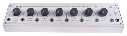 ELC DR 07 Decade Box, Decade Box Type Resistance, Resistance Resolution 1Ω, Best Maximum Resistance Accuracy ±1% 0.5W