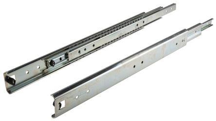 totalmente extensibles 1 par de gu/ías para cajones de acero telesc/ópico con rodamiento de bolas de alta resistencia con cierre suave