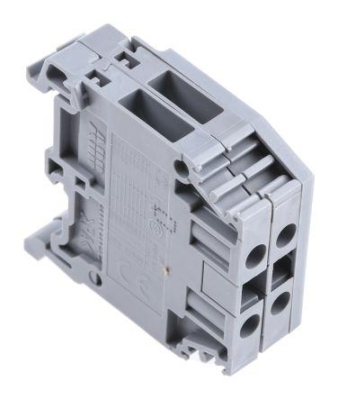 Entrelec Distribution Block, 4mm², 2 Way, 32A, 800 V, Grey