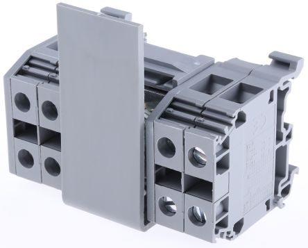 Entrelec Distribution Block, 10-70 inputmm², 2 Way, 200A, 800 V, Grey
