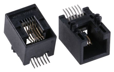 Schema Cablaggio Rj12 : 95501 6669 molex cat3 6p 6c right angle surface mount female rj12