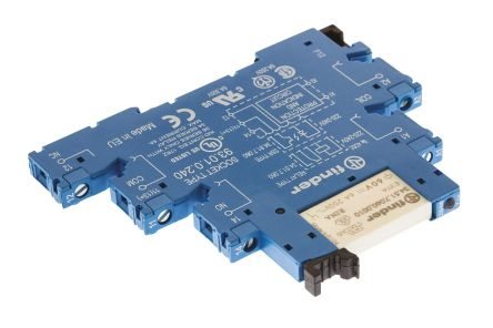 38 Series 230V ac/dc DIN Rail Interface Relay Module, SPDT, Screw product photo