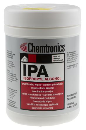 Chemtronics 100 Wipes Tub Flux Remover for PCBs